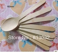 Free shipping! Dinner Sets,Wooden Spoons  wholesale, 300PCS/lot, natural color