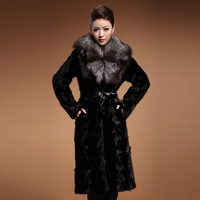 Free shipping fashion design classic fox fur mink fur coat