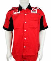 Free shipping car mitsubishi mark dressed man car race work clothing collar shirt with short sleeves