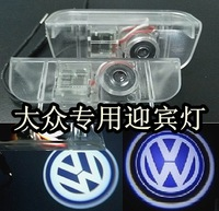 Free ship!Volkswagen Touareg/Magotan/Passat/Tiguan/beetle Car LED welcome door LOGO light,12V!(car name+year!)
