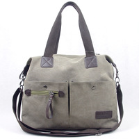Casual multifunctional canvas mother bag nappy bag one shoulder cross-body multi-pocket