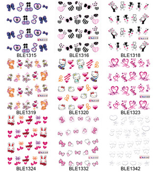 20pcs/lot Hot-selling nail art watermark applique fashion finger sticker water transfer printing applique  free shipping