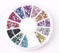 20pcs/lot Nail art drill falt bottom acrylic diamond rhinestone 2mm  free shipping