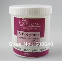 120g Ezflow Acrylic Powder Clear Color 100% High Quality For Crystal Salon Nails Desgin & Fashion Beauty Product Wholesale 604