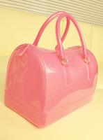 Fashion vintage women's fashion handbag candy color bags jelly bag transparent  2013 spring and summer