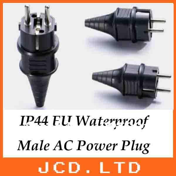 2 Terminals Eu European Waterproof Male AC Power Plug /IP44 Germany France industrail socket Gasoline generator accessories(China (Mainland))
