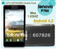 In Stock! Lenovo P780 MTK6589 Quad Core Phone 5.0 inch HD IPS Screen 8MP Camera Android Phone