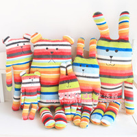 Hot selling CRAFT eight -color striped rabbit lovely pear Bear S size Plush dolls Cushion Pillow free shipping