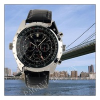 Brand Luxury Gent Men Black Aviator Automatic Mechanical Watch-WAT10037