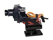 Professional FPV photography high definition 720P camera gimbal FPV Dual axis servo gimbal sport nylon integrated