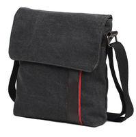 Free shipping men casual canvas body across bag black & brown shoulder bag for business bolsos bolsas de los hombres paquete M