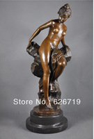 Free Shipping  Erotic Sculpture bronze woman art  antiques czs-263