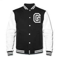 Women's Manner College Jacket Fashion G Letter Printed Long-Sleeve Hoodies Unisex Baseball Jackets HO-037