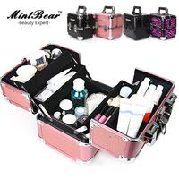 Free shipping large aluminum makeup bag/ make up case aluminum