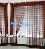 Cheap 300cm*300cm String Line Curtain, Window Curtain, Fringe Panel, Room Divider Wedding Drapery Wine Red 16633