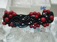 Red coral bracelet handmade woven pattern bracelet girlfriend gifts