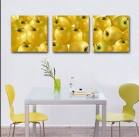 restaurant decoration 3Panels  Picture Painting Modern Canvas Paint  best still life oil paintings of 3 fruits Art Wall230