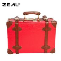 Zeal vintage luggage bag female handbag travel bag suitcase box cosmetic 12