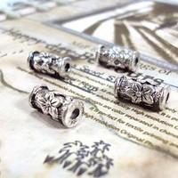 Alloy pendant, charm , 13x6mm, antique silver plating , item MCB1040