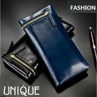 2014 NEW! Lovers' Wallets Vintage Genuine Leather Men / Women Wallet Leather Clutch Bag Men's Purse Women's Purse Best Gift