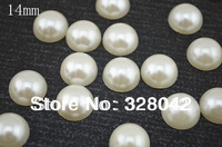 Free shipping 14mm semi-circle pearl flat back Decoration Accessory 360pcs/lot