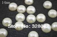 Free shipping 14mm semi-circle pearl flat back Decoration Accessory 360pcs/lot