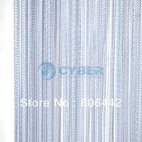 Grey 300cm*300cm Window / Door Decor Curtain / Line String Curtain /Room Divider Wedding Drapery 16633