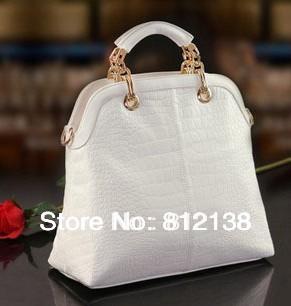 retail  High quality fashion handbags crocodile pattern handbags Women's casual bag,HS-BAG010