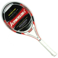 Free Shipping Kawasaki sharp500 carbon fiber tennis racket full carbon tennis ball single