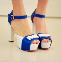 2013 women's shoes female sandals female ultra high heels open toe shoe sweet bow sandals gladiator