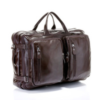 Genuine leather 2013 men's backpack portable cross-body business casual travel big bag