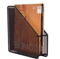 Free Shipping Advanced metal iron single file holder iron wire single box column file box book file box Mesh Magazine holder