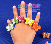 Butterfly ring toy accessories child ring baby toy girl butterfly ring 12