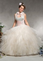 free shipping 2013 jacket Quinceanera Dresses ball gown embroidery beading floor-length size:2-28 any color