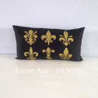 Free Shipping Mini Fleurs de Lis Lumbar Pillow Covers 1 piece Size: 30x50cm