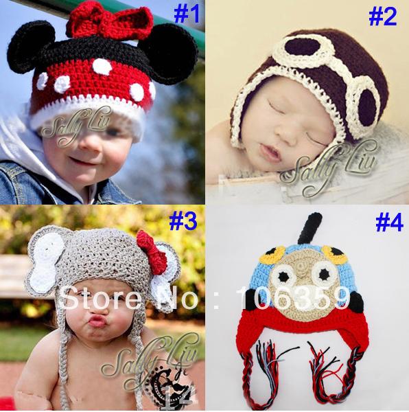 Baby-Crochet-Animal-Hats-Beanies-Handmade-Infant-Knit-Cap-Funny-Winter