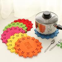 Cutout tapirs heat insulation pad candy color circle mat table mat disc pads pot holder 36095
