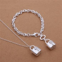S355 925 silver jewelry set, fashion jewelry set bracelet necklace Jewelry Set