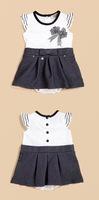 Hot Seller Little Girls Clothing Set 2 Pcs Cotton Dress And Underwear Kids Easter Wear Children Summer Clothes   CS130626-49^^EI