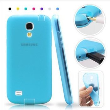 Top Quality (1pcs) TPU case with Dust Proof Plugs for Samsung S4 mini I9190 I9192 I9195 I9198 cell phone cover