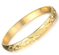 Free Shipping 18k gold cuff bangle 18k gold jewelry for bride