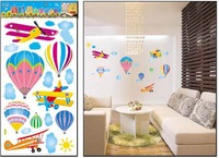 for children room wall sticker, kindergarten /fire balloon sticker ,size 34*68CM