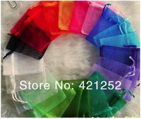 Free Shipping Wholesale 200pcs/lot 12x10cm Black Drawable Organza Jewelry Packaging Wedding Gift Bags&Pouches