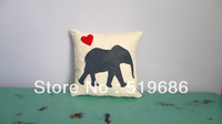 Free Shipping Elephant Silhouette Pillow Covers 1 piece Size: 40x40cm