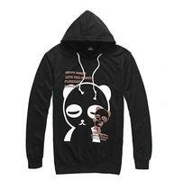 2013 New Autumn Style Men's Catoon Panda Print Slim Thin Cotton Hoodie Jackets Free Shipping LJ683