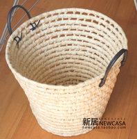 Straw braid ikea storage basket dirty clothes basket