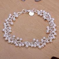 925 silver dexterously scrub beads grape bunch bracelet fashion trend of the Women silver jewelry accessories