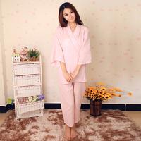 Plus size lovers sleepwear bathrobe kimono 100% cotton yarn lounge 100% cotton robe bathrobes ,free shipping