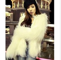 Leather Jacket Cheap Girls Long grass artificial plush fox fur coat fur coat