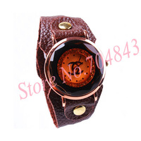 Hot selling Free shipping fashion vintage Leather quartz Wrist Watch woman Ladies 3 color